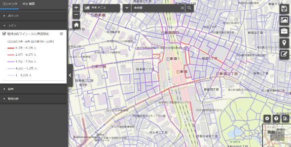 ブログウォッチャーの「プロファイルパスポート」とESRIジャパンの「mapDISCOVERY」が連携、歩行者混雑度オプションサービスを開始