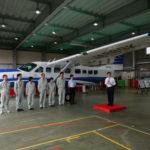 国土地理院、衛星測位で正確な標高を算出可能にする「航空重力測量」の出発式を開催