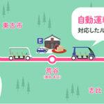 ナビタイム、永平寺町での移動サービス実証で自動運転電動カート対応のルートを提供