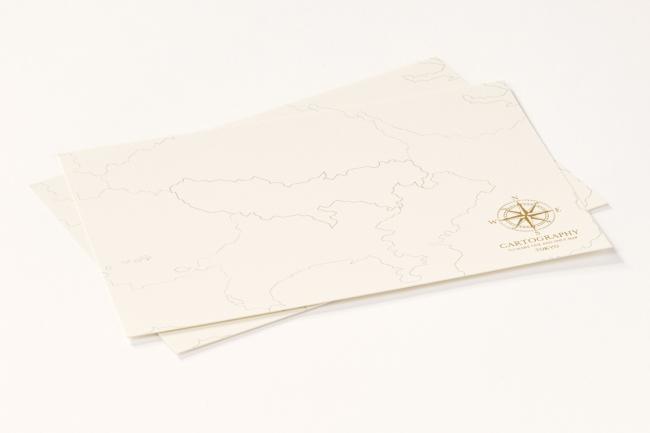 マルアイ、大人のための白地図「カルトグラフィー」シリーズの限定デザイン「トーキョー」を発売