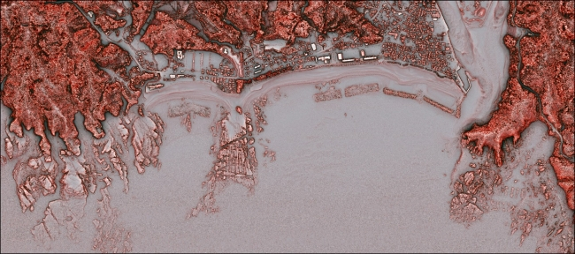 アジア航測、海底地形マップアプリ「釣りドコ」に赤色立体地図を追加
