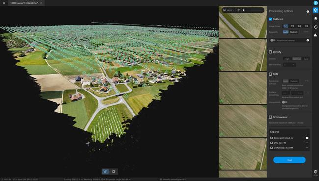 Pix4D、大量の空撮画像を高速に処理できるフォトグラメトリーソフト「Pix4Dmatic」を提供開始