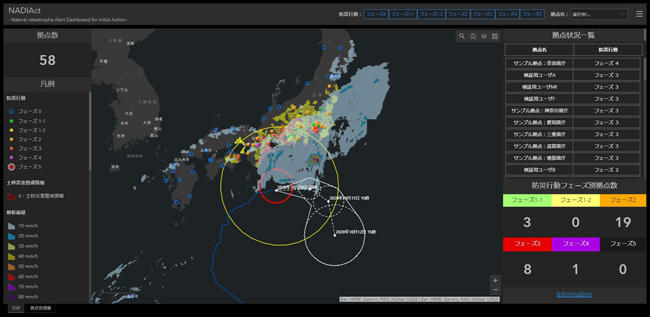 ESRIジャパン、リアルタイム防災気象情報を活用したGISサービス「NADIAct」を提供開始