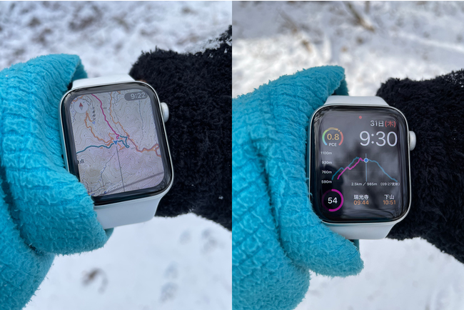 ヤマレコ、Apple Watchのウォッチフェイス上で登山の状況を表示可能に