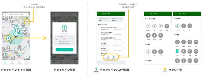 バス専用ナビアプリ「バスNAVITIME」、バス停にチェックインする機能を提供開始