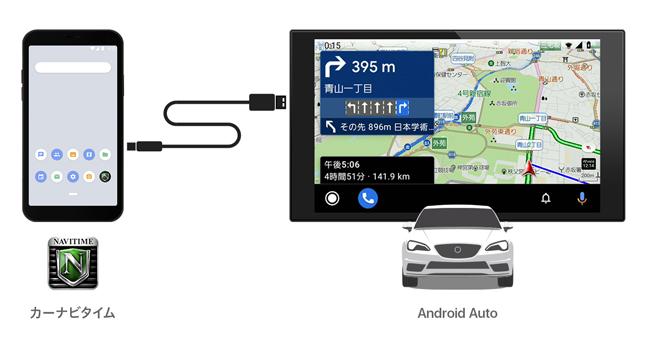 「カーナビタイム」がAndroid Autoに対応、車載ディスプレイに表示してナビゲーション可能に