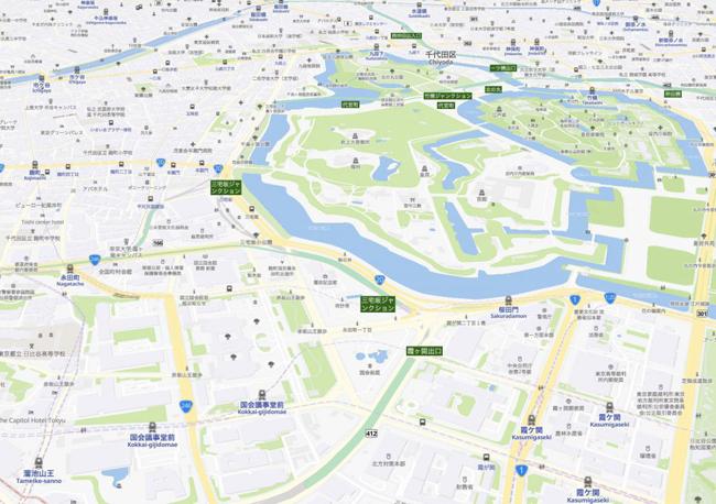 「MIERUNE地図」がリニューアル、自治体名や駅名などの名称に英語を併記