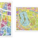 ゼンリンが「地図ぬり絵」専用紙の単品販売を開始、練習帳も発売